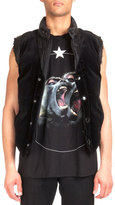 Givenchy Nylon Puffer Vest with Velvet, Black