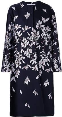 Oscar de la Renta straight-cut dress with petal print
