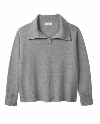 &Daughter & DAUGHTER - Quinn Collared Knit Grey - XS
