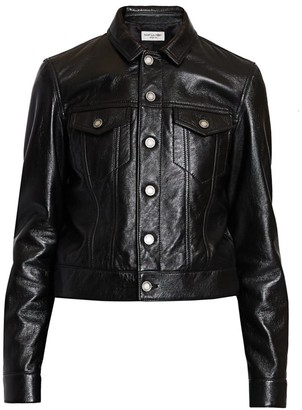 Saint Laurent Leather Trucker Jacket