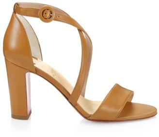 Christian Louboutin Loubi Bee Leather Block-Heel Sandals