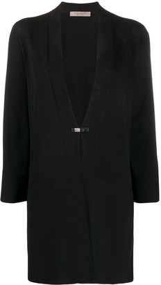 D-Exterior Panelled Loose-Fit Cardigan