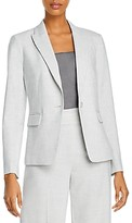Rebecca Taylor Long-Sleeve One-Button Blazer