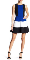 Just For Wraps Colorblock Skater Dress