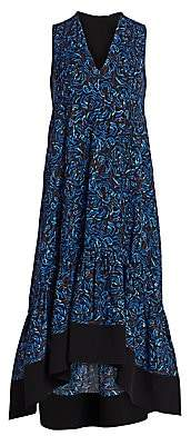 3.1 Phillip Lim Women's Floral Flounce Hem Midi Dress - Size 0