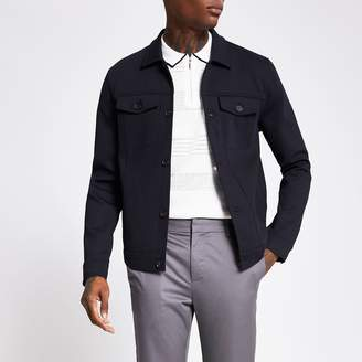 River Island Mens The Navy Western Jacket
