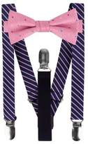 Lord & Taylor Boy's Two-Piece Nathan Stripe and Dot Bow Suspender Set