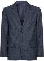 Topman Blue Basket Weave Check Blazer