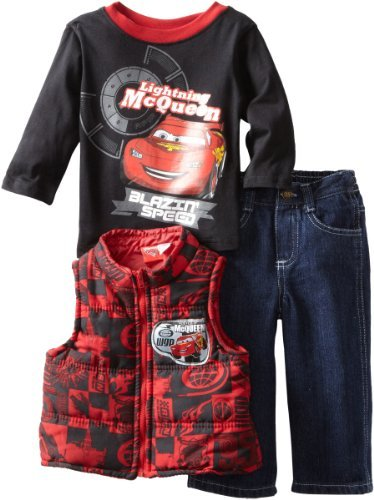 Disney Baby-Boys Infant 3 Piece Car Printed Vest Set