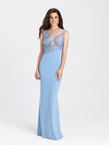 Madison James - 16-387 Dress in Periwinkle