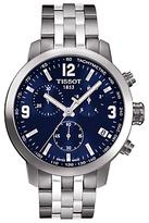 Tissot T0554171104700 Prc 200 Chronograph Date Bracelet Strap Watch, Silver/navy