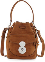 Ralph Lauren Ricky Small Suede Bucket Bag, Caramel