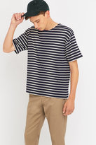 Armor Lux Short Sleeve Dark Navy Striped Shirt