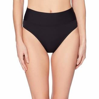 Nautica Women's High Rise Core Transformable Wide Waist Band Bikini Bottom Swimsuit