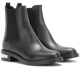 Miu Miu Embellished Leather Chelsea Boots