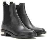 Miu Miu Embellished Leather Chelsea Boots