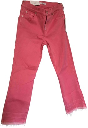 7 For All Mankind Pink Cotton - elasthane Jeans for Women