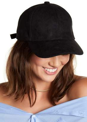 Just Jamie Faux Suede Baseball Cap