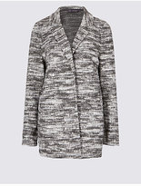 M&S Collection Textured Boucle Coat