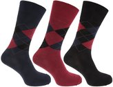Pierre Roche Mens Comfort Fit Non Elastic Top Diabetic Socks (Pack Of 3)