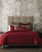 Hotel Collection Woven Texture Red Duvet Covers, Created for Macy's