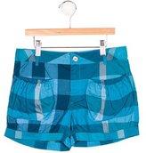 Burberry Girls' Supernova Check Mini Shorts w/ Tags