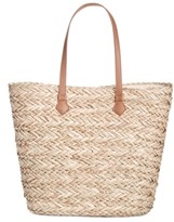 INC International Concepts Inc Lyllian Straw Tote, Created For Macy's