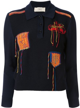 Ports 1961 Knitted Polo Shirt