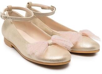 Charabia Bow-Detail Ballerinas