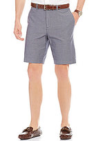 Perry Ellis Slim-Fit Flat-Front Textured Dobby Shorts
