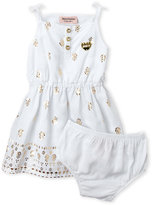 juicy couture (Infant Girls) Two-Piece Foil Print Dress & Bloomers Set