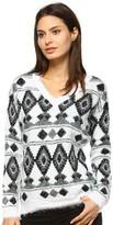 Women's White Mark Printed Sweater