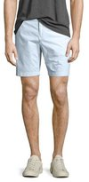 Burberry Tailored Cotton Chino Shorts, Pale Opal Blue