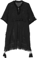 Isabel Marant Telima fringed open-knit mini dress