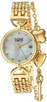 Burgi Women's Quartz Stainless Steel Casual Watch, Color:Gold-Toned (Model: BUR172YG)