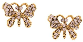 Oscar de la Renta Butterfly-Shaped Earrings