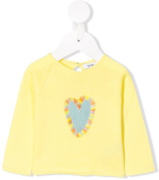 Knot Heart Fringed Jumper