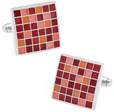 Cufflinks Inc. Men's Red Mosaic Checker Board Cufflinks