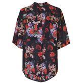 Kenzo Floral Short Sleeve Blouse