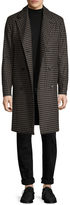 Theory Men's DB Top Houndstooth Coat