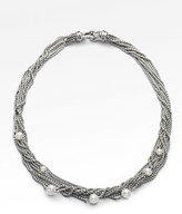 David Yurman Eight-Row Chain Necklace with Pearls