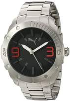 Puma Quartz Stainless Steel Watch, Color:Silver-Toned (Model: PU103881003)
