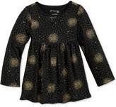 First Impressions Long-Sleeve Fireworks-Print Babydoll Tunic, Baby Girls (0-24 months), Only at Macy's