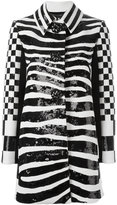 Marc Jacobs zebra print coat - women - Silk/Polyester/Wool - 2