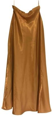 Non Signã© / Unsigned Gold Viscose Skirts