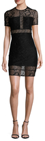 Bailey 44 Textured Lace Jersey Sheath Dress