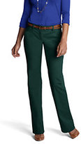 Lands' End Women's Not-Too-Low Rise Bootleg Chino Pants-Pine