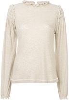 See by Chloe ruffle knit sweater - women - Lyocell/Wool - XS