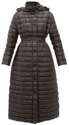 Moncler Chocolat Quilted-down Coat - Womens - Black