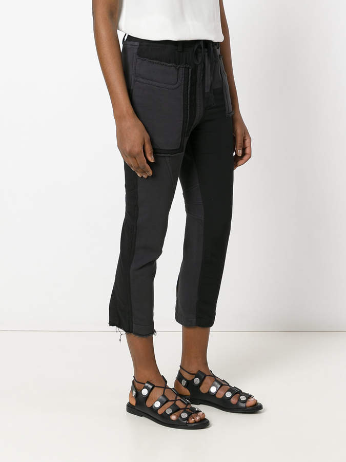 Haider Ackermann cropped patch trousers